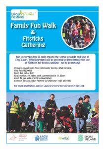 Laois Walks Festival Family Fun Walk & Fitsticks Gathering @ Emo Community Centre   Emo   County Laois   Ireland