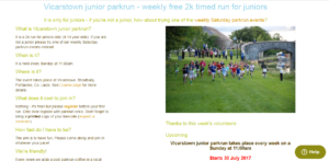 Vicarstown Junior Parkrun @ Vicarstown Canal | Vicarstown | County Laois | Ireland