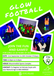 Glow Football @ Mountmellick Sports Complex | Mountmellick | County Laois | Ireland