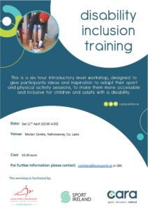Disability Inclusion Training @ Marian Centre | County Laois | Ireland