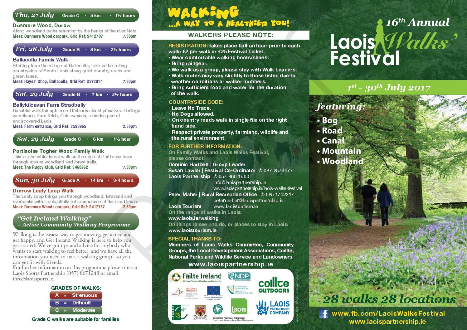 16th Annual Laois Walks Festival