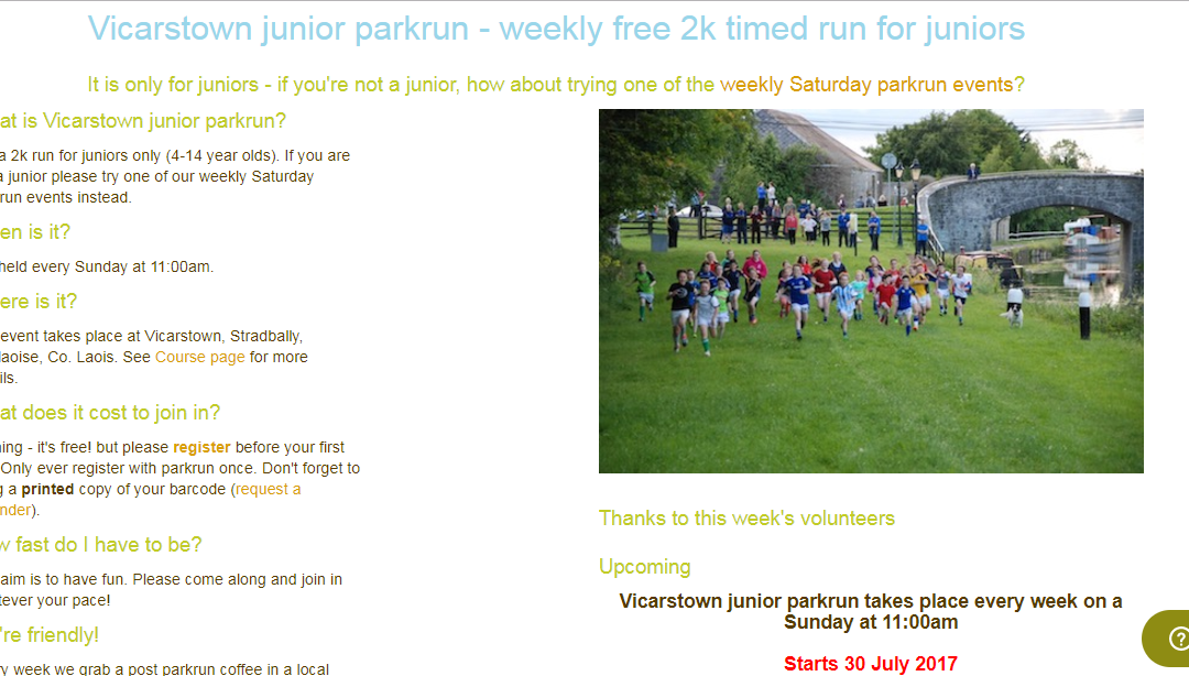 Vicarstown Junior Parkrun