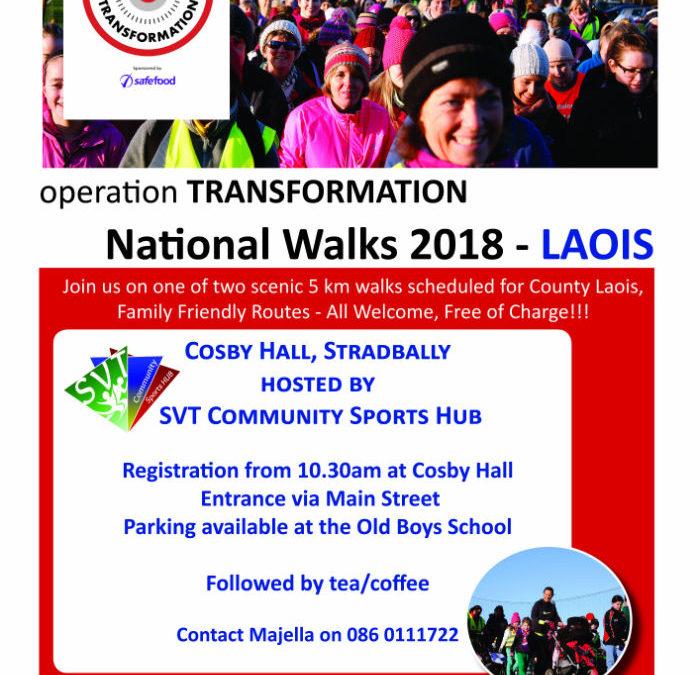 Operation Transformation Walk 2018 Cosby Hall, Stradbally
