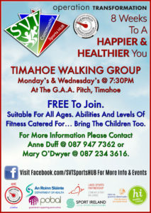 OT Timahoe Walking Group @ Timahoe GAA | Timahoe | County Laois | Ireland