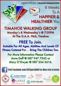 OT Timahoe Walking Group @ Timahoe GAA | Timahoe | County Laois | Ireland