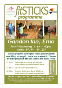 Fitsticks Programme @ Gandon Inn | Emo | County Laois | Ireland