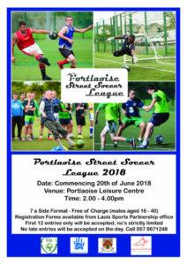 Portlaoise Street Soccer League @ Portlaoise Leisure Centre | Portlaoise | County Laois | Ireland