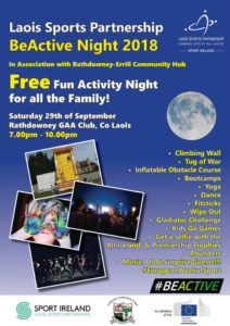 Be Active Nights @ Rathdowney GAA Club | Rathdowney | County Laois | Ireland