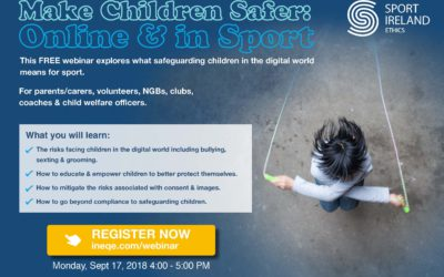 Free webinar which explores what safeguarding children in the digital world means for sport