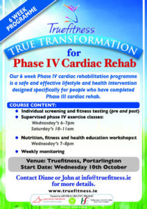 True Transformation for Phase IV Cardiac Rehab @ True Fitness | Portarlington | County Laois | Ireland
