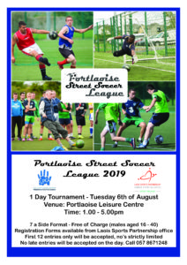 Portlaoise Street Soccer League @ Portlaoise Leisure Centre