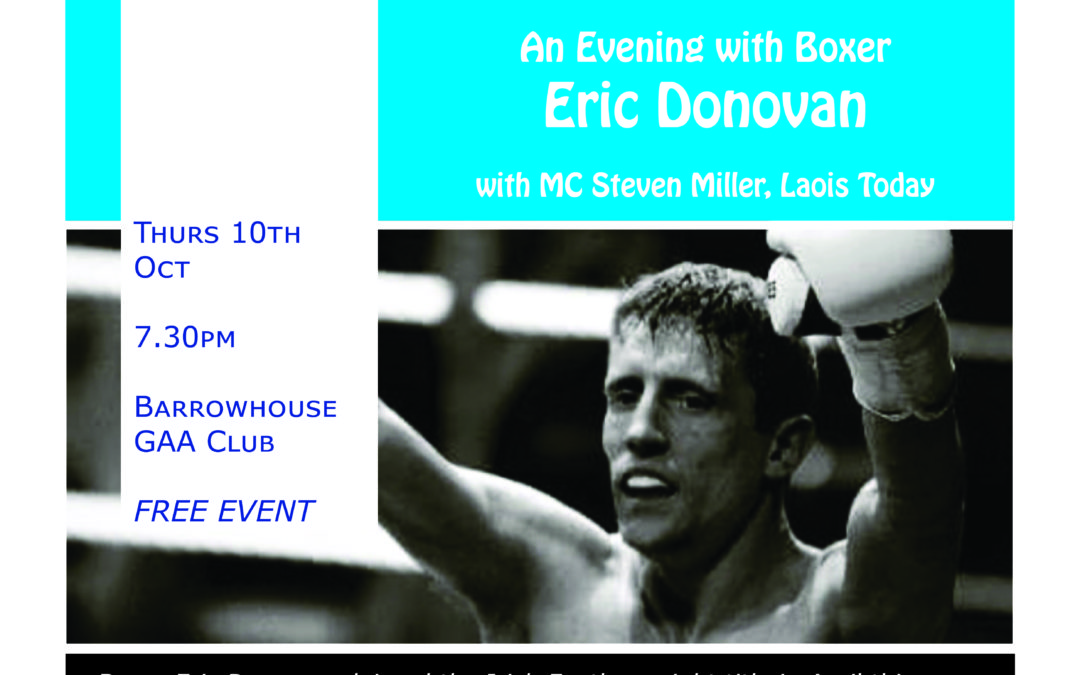 """""""Redemption"""" An evening with Boxer Eric Donovan"""