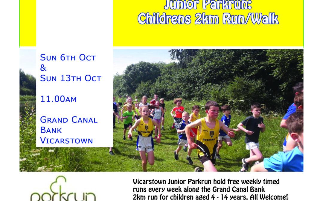 Laois Connects Junior Parkrun 2k run/walk