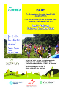 Laois Connects Junior Parkrun 2k run/walk @ Grand Canal Bank