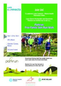 Vicarstown Parkrun for Laois Connects Week @ Grand Canal Bank